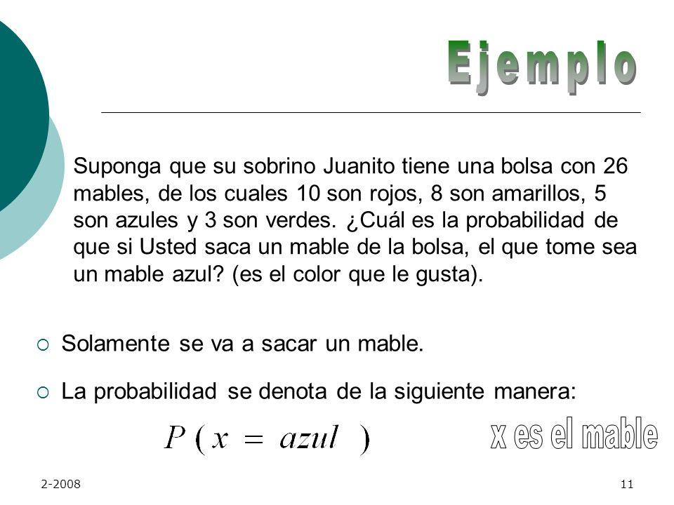2-200810 El cálculo de la probabilidad se realiza de la siguiente manera: