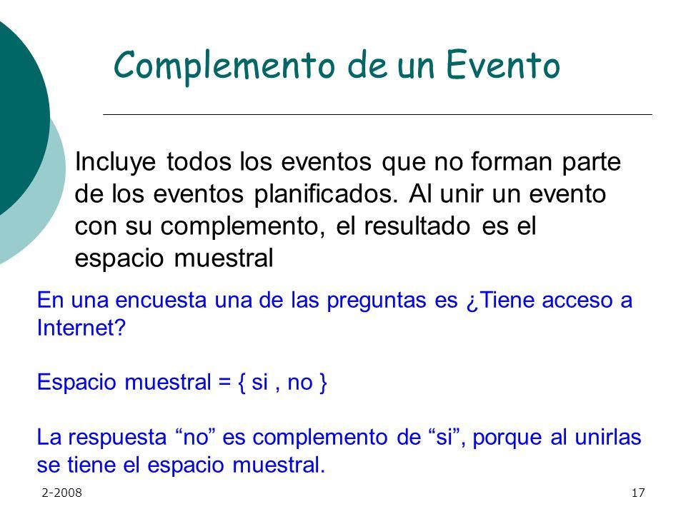 2-200816 Evento conjunto Un evento conjunto es un evento que tiene más de una característica Raúl Cálix es estudiante de Administración de Empresas y