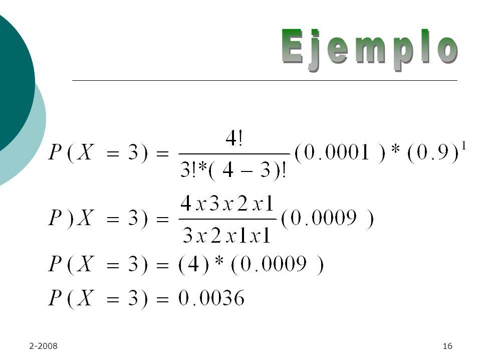 2-200815 Se calcula la probabilidad para 3 y para 4.