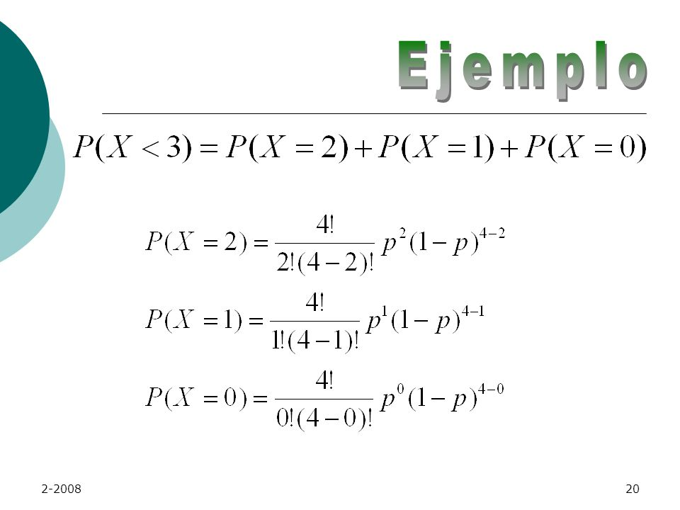 2-200819 ECK tiene la probabilidad de que se marque un pedido en 0.10. Calcular la probabilidad de que en cuatro envíos de pedidos, menos de 3 salgan