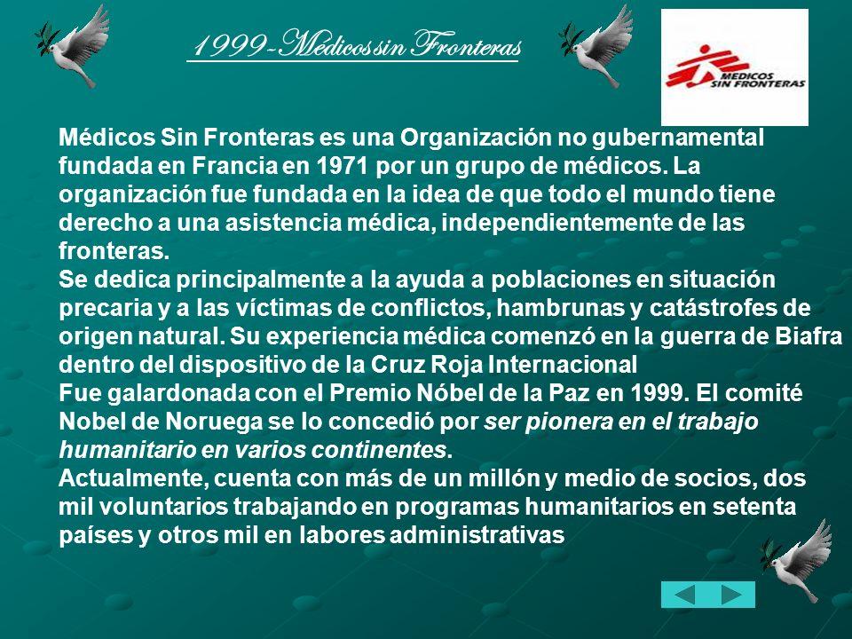 1992-Rigoberta Menchú Tum Rigoberta Menchú Tum nació el 9 de enero de 1959, es una indígena guatemalteca. Es Embajadora de Buena Voluntad de la UNESCO