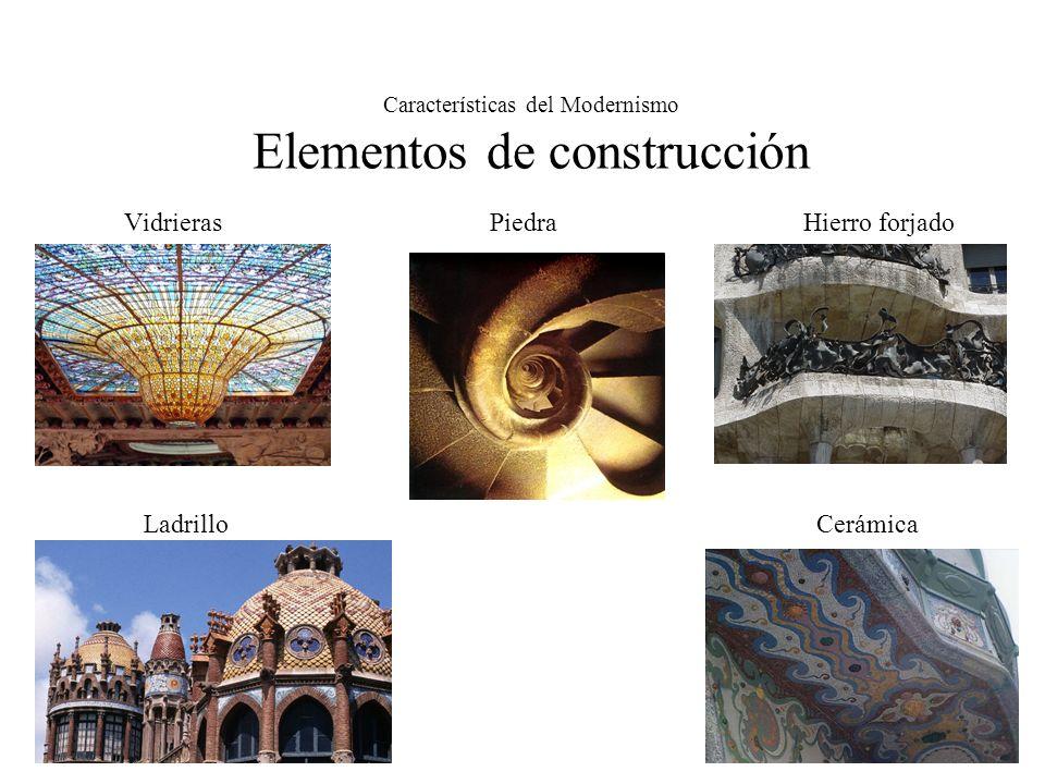 Características del Modernismo Estética Asimetrías Líneas curvas Mosaicos