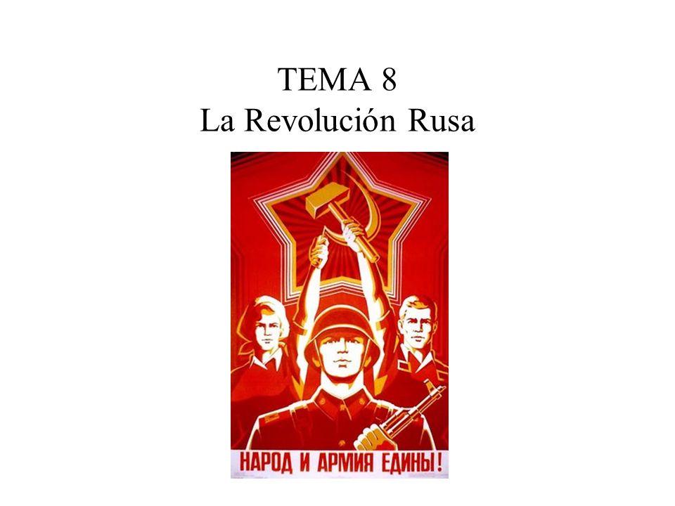 Índice 1.La crisis del zarismo. 1.1 Política, economía y sociedad en el Imperio Ruso.