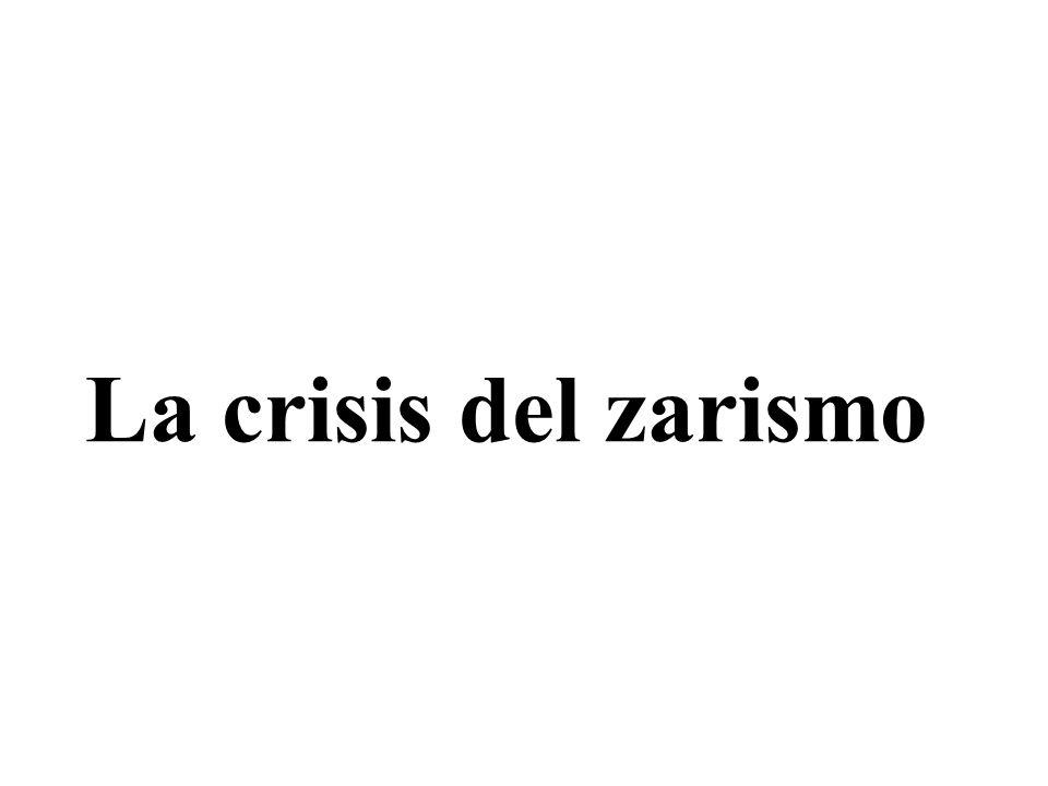 La crisis del zarismo Objetivos - Conocer la estructura social, política y económica del régimen zarista.