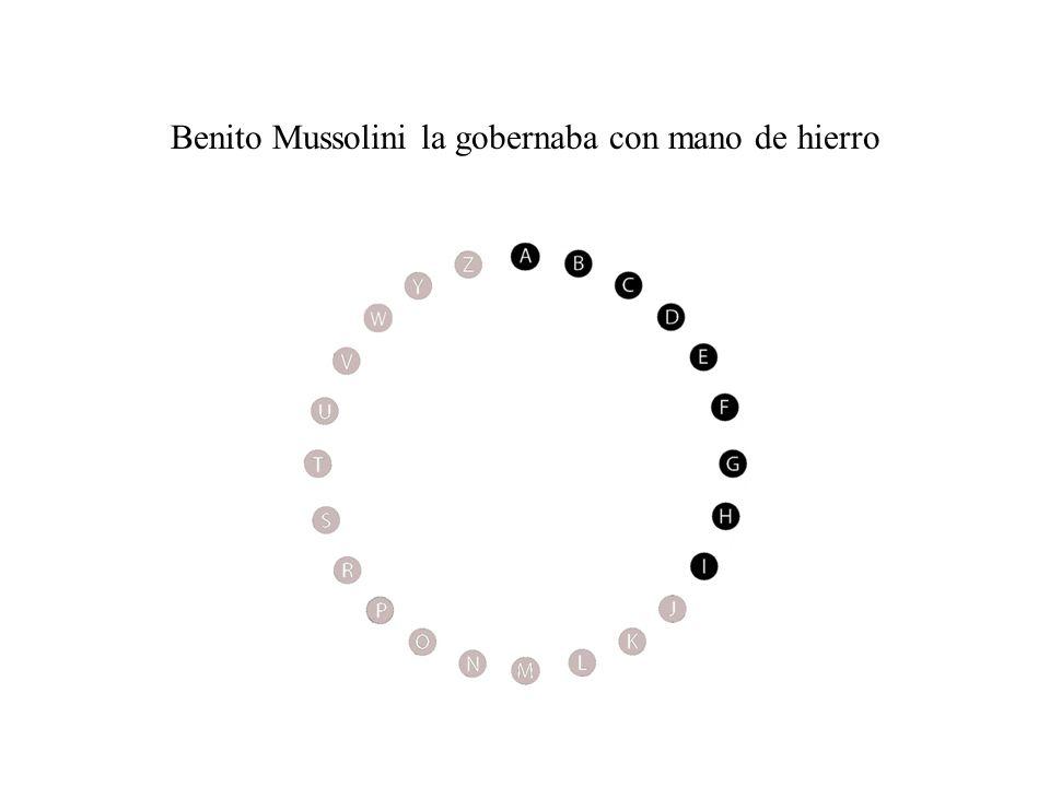Benito Mussolini la gobernaba con mano de hierro