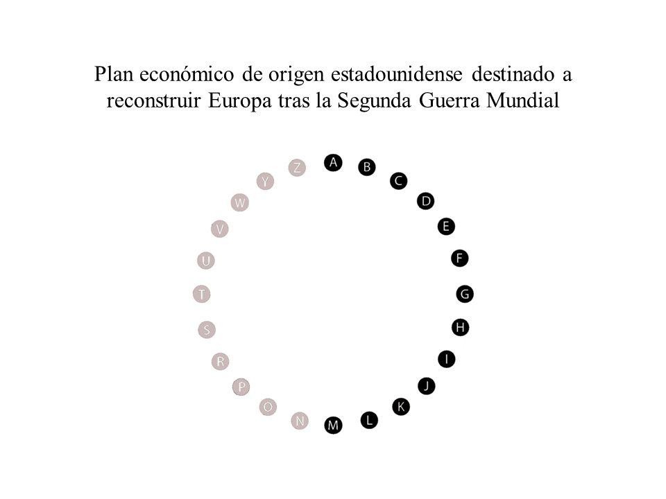 Plan económico de origen estadounidense destinado a reconstruir Europa tras la Segunda Guerra Mundial