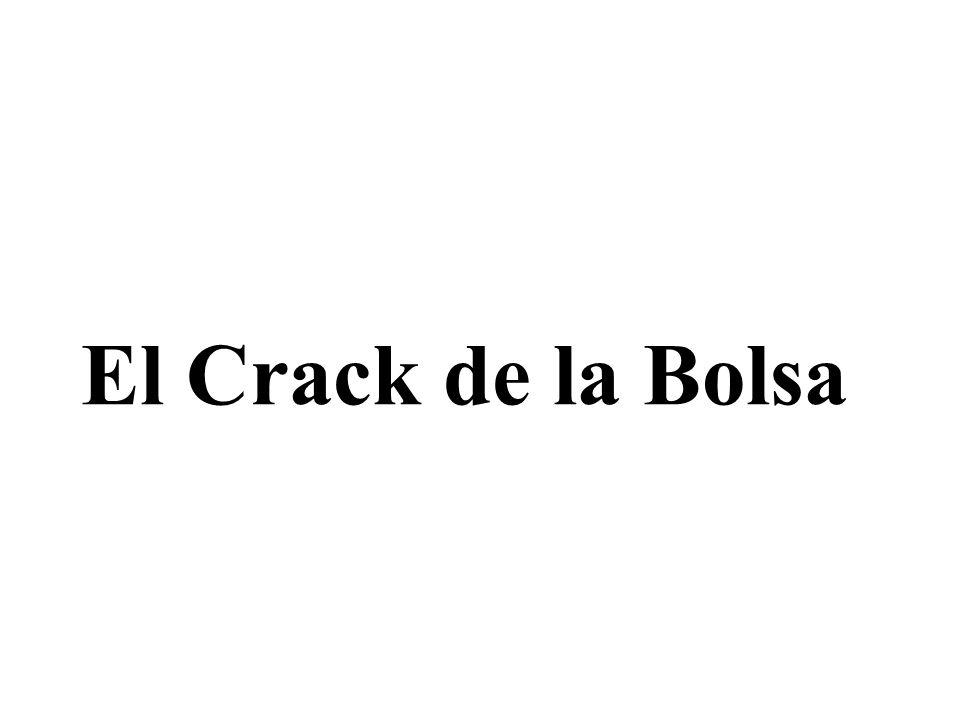 El Crack de la Bolsa Las causas de la crisis Sobreproducción: - Se produce más de lo que se vende (más oferta que demanda).