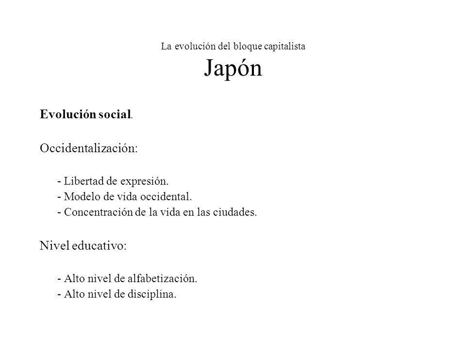 La evolución del bloque capitalista Japón Evolución social.