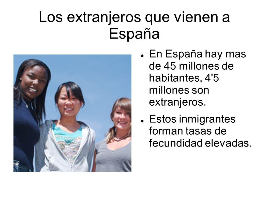 Inmigración extranjera El crecimiento económico de España convirtió a un país de emigrantes en un país receptor de inmigración.