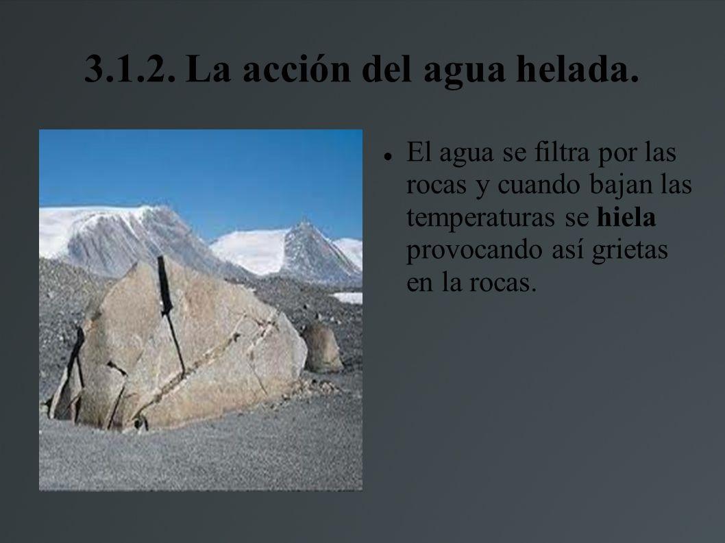 3.1.2.La acción del agua helada.