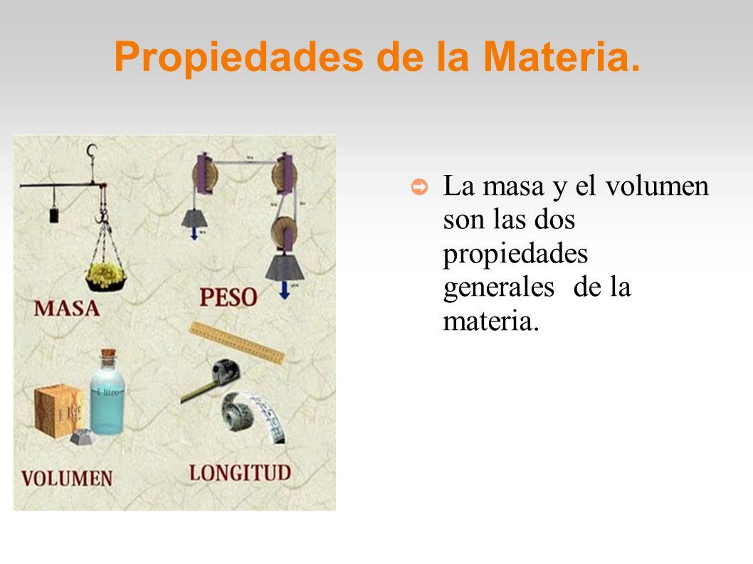 Otras propiedades de la Materia.