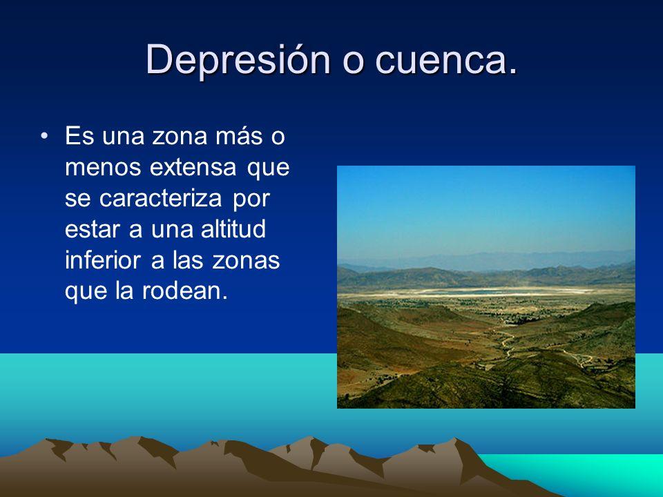 Depresión o cuenca.