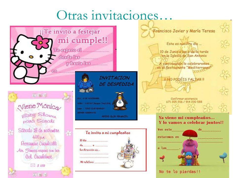 Otras invitaciones…