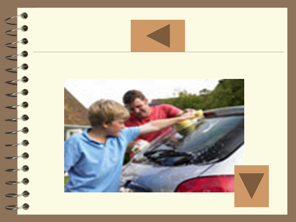 Lavar el coche (el carro) Mostrar la foto ocho