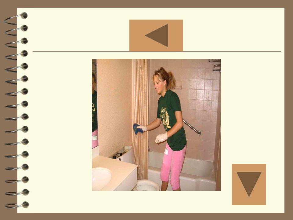 Limpiar el baño Mostrar la foto diez