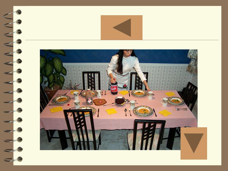 Poner la mesa Mostrar la foto doce