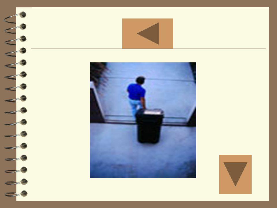Sacar la basura Mostrar la foto tres
