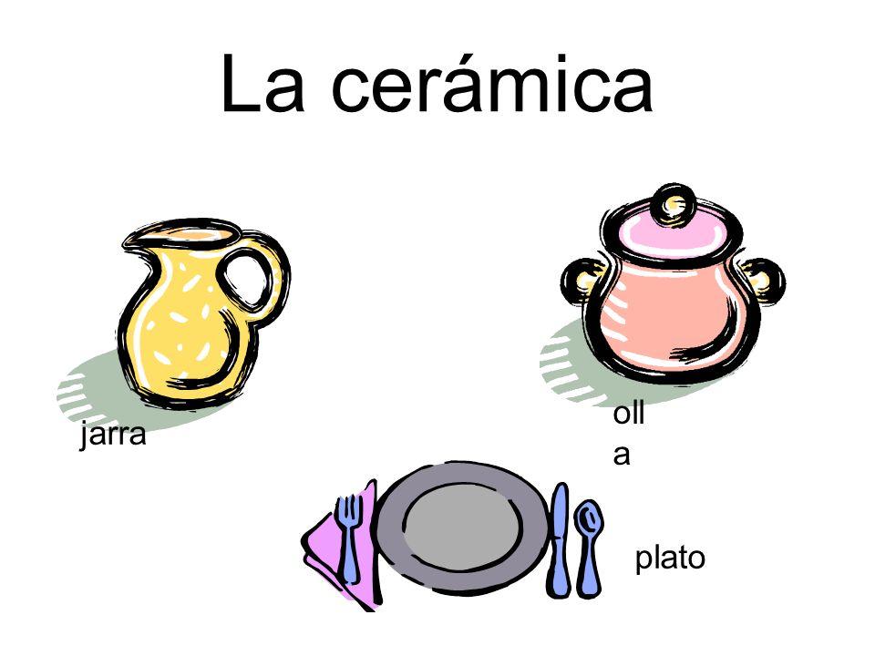 La cerámica jarra oll a plato