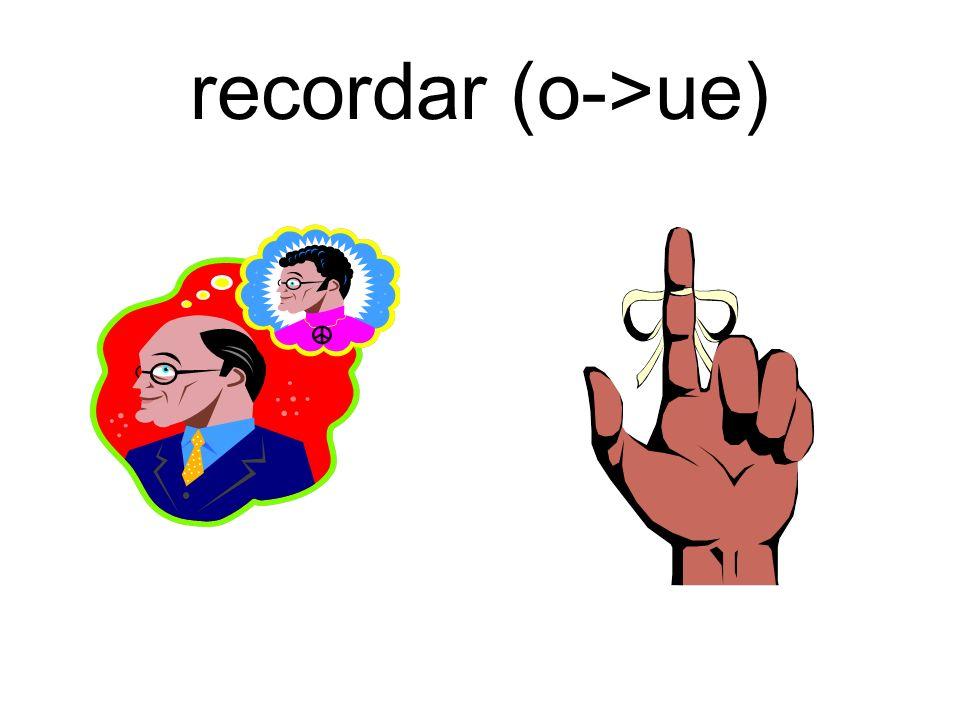 recordar (o->ue)
