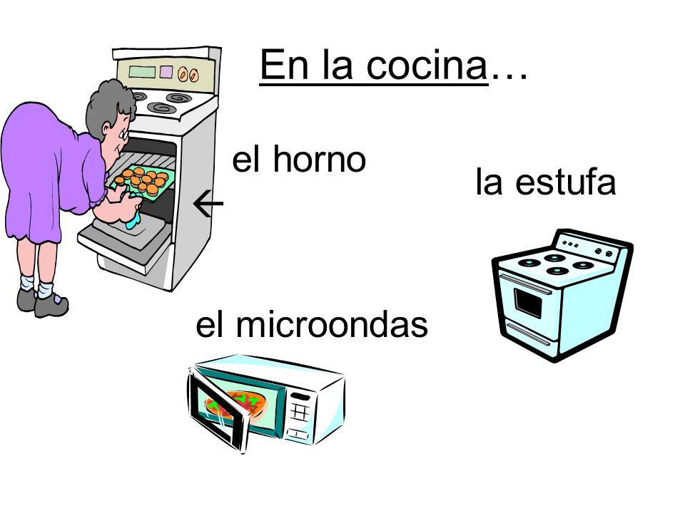 En la cocina… horno el microondas la estufa el horno