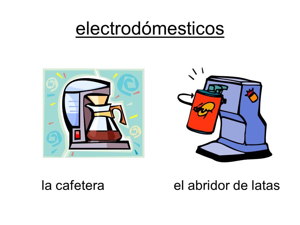 electrodómesticos la cafetera el abridor de latas