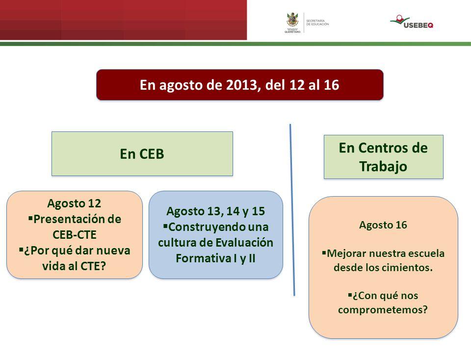 Seguimiento: 4 reuniones de Consejo Técnico Escolar en su turno y centro de trabajo respectivo 4 reuniones de CEB–CTE: Hora:Modalidad:Coordina: 8:00 – 13:00 hrs.Integrados en CEBAsesor Académico 13:00 – 15:00 hrs.