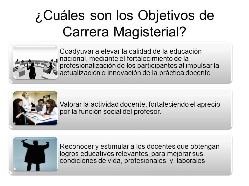 ¿Cuáles son los objetivos específicos de Carrera Magisterial.