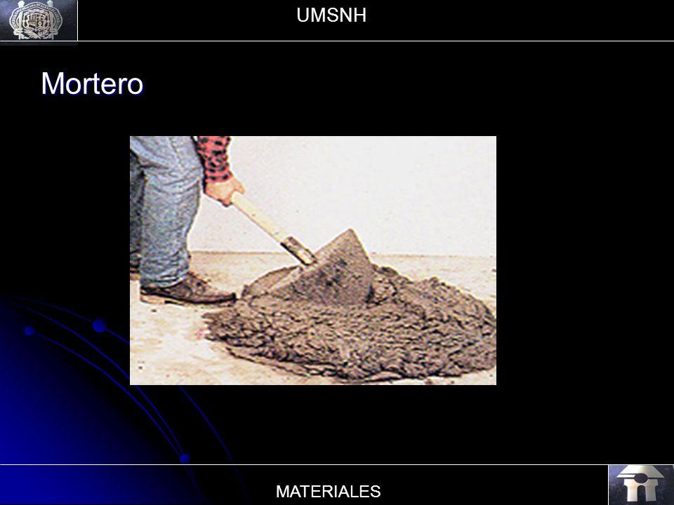Mortero UMSNH MATERIALES