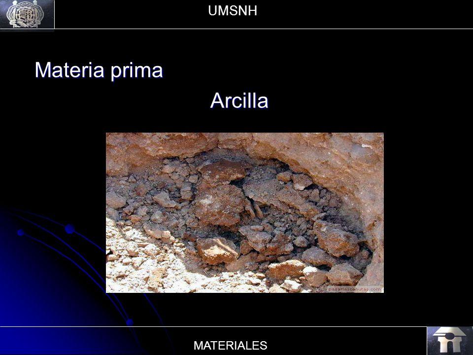 Materia prima Arcilla UMSNH MATERIALES