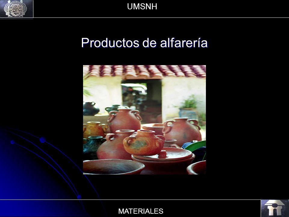 Productos de alfarería UMSNH MATERIALES