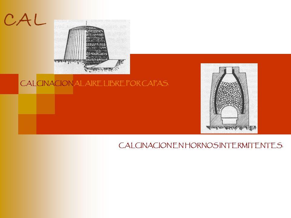 CALCINACION AL AIRE LIBRE POR CAPAS. CALCINACION EN HORNOS INTERMITENTES.