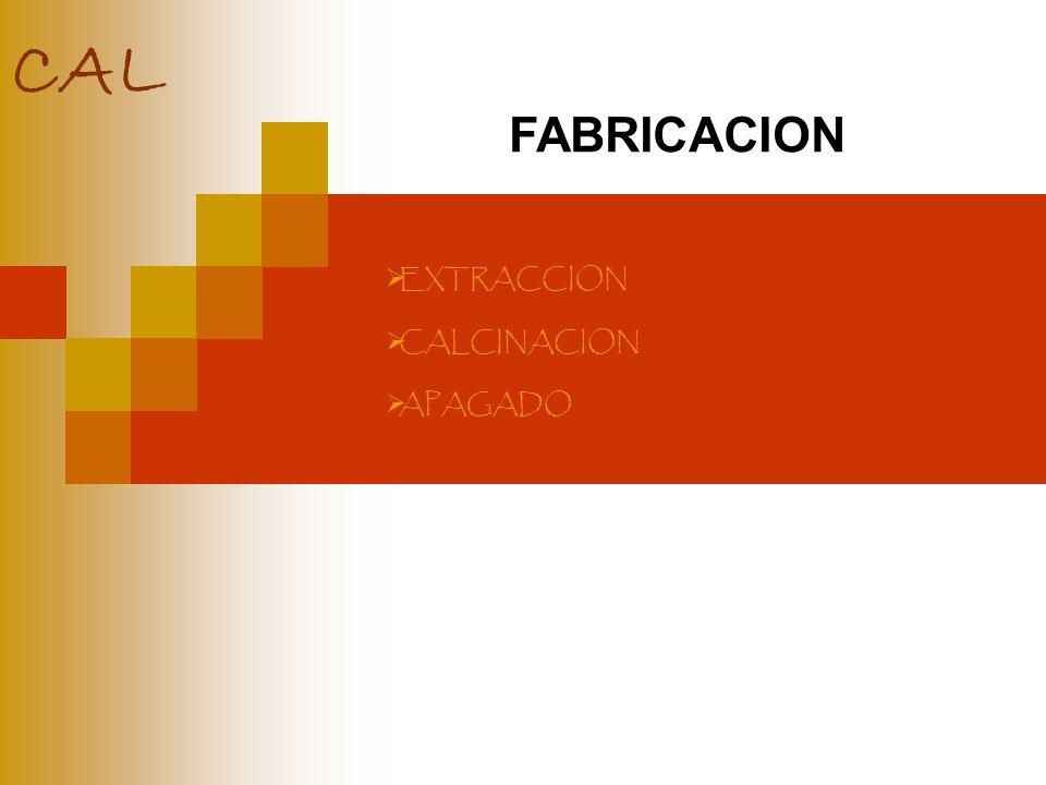 CAL FABRICACION EXTRACCION CALCINACION APAGADO