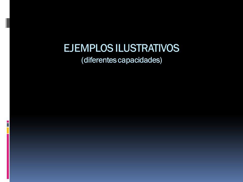 EJEMPLOS ILUSTRATIVOS (diferentes capacidades)
