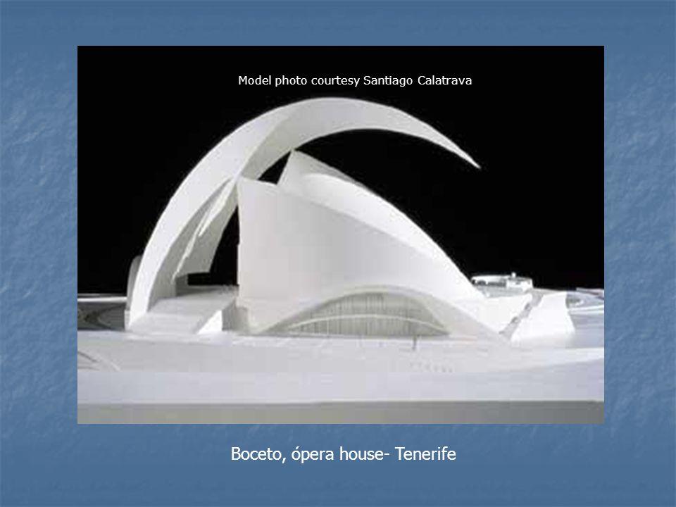 Boceto, ópera house- Tenerife Model photo courtesy Santiago Calatrava