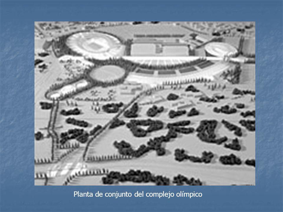 Planta de conjunto del complejo olímpico
