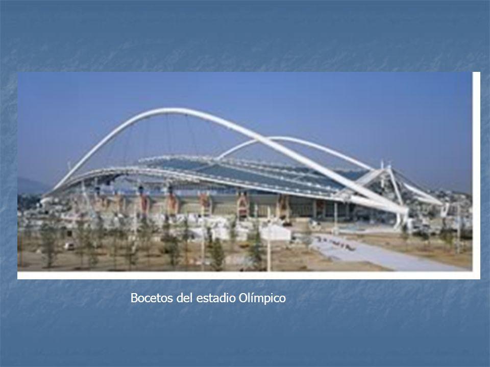 Bocetos del estadio Olímpico