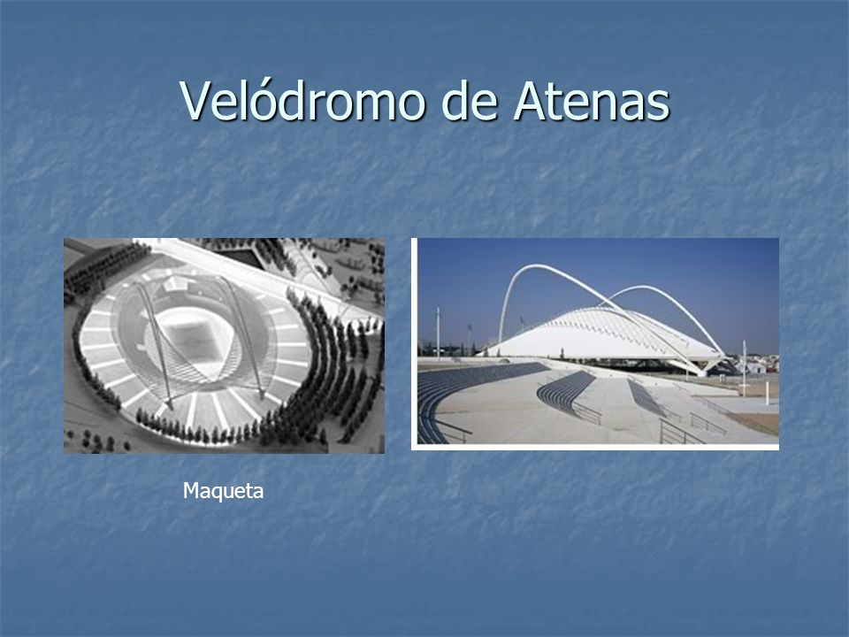 Velódromo de Atenas Maqueta