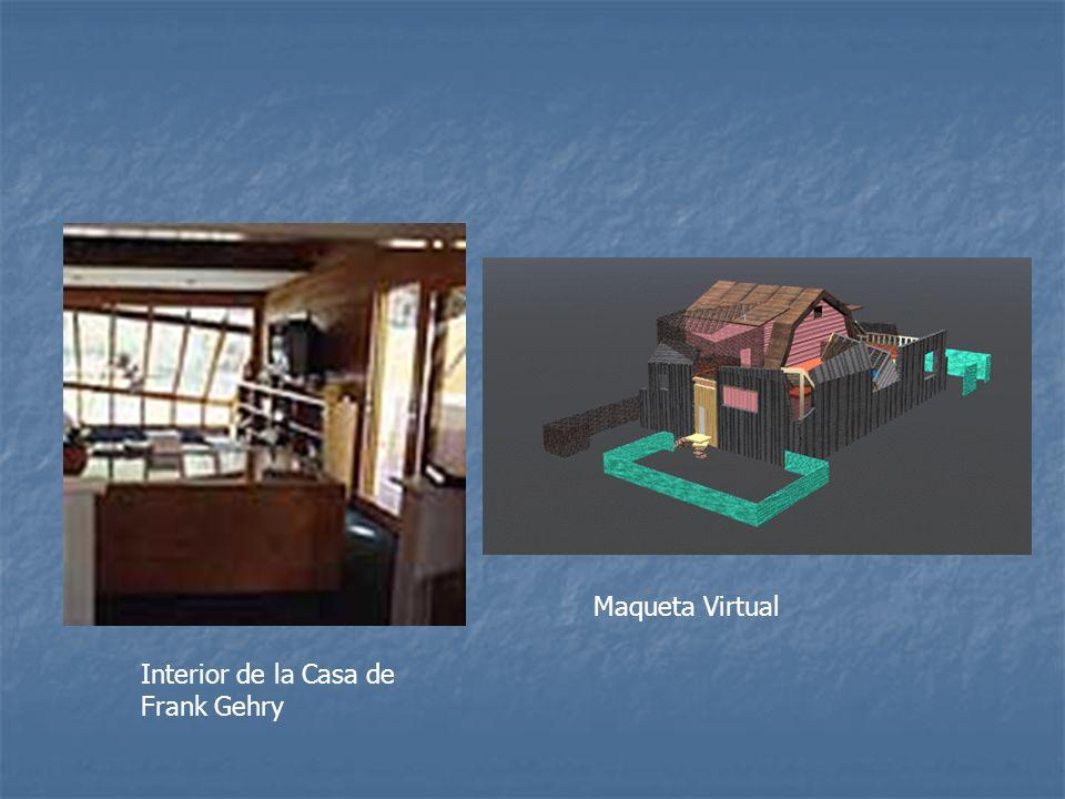 Interior de la Casa de Frank Gehry Maqueta Virtual
