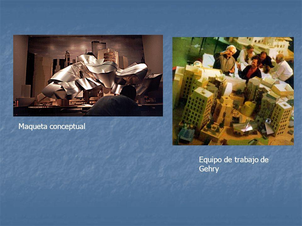 Maqueta conceptual Equipo de trabajo de Gehry