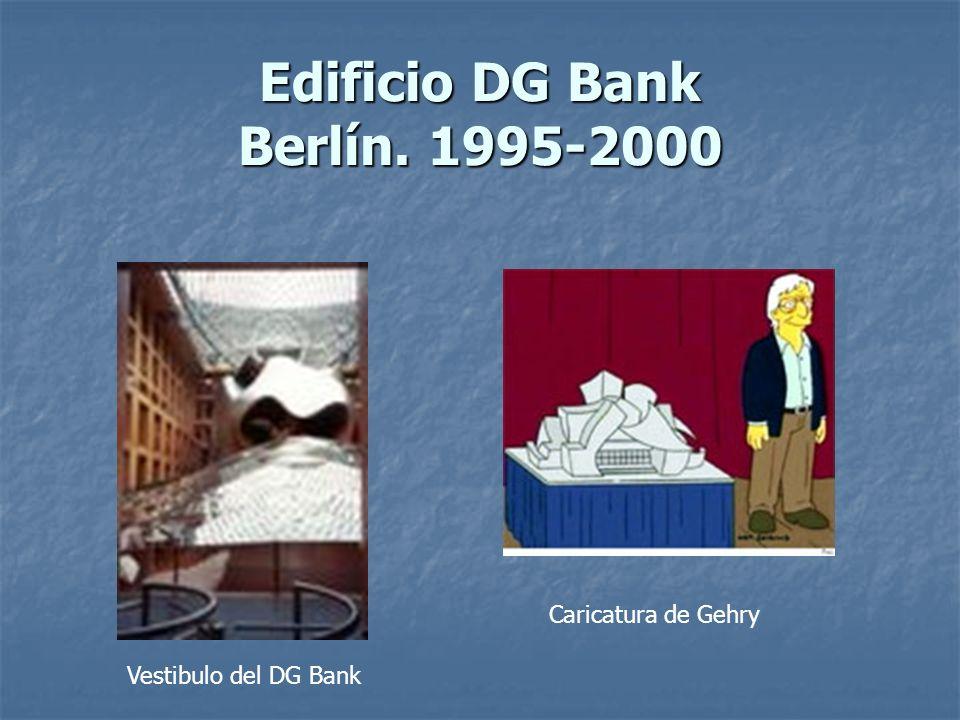 Edificio DG Bank Berlín. 1995-2000 Vestibulo del DG Bank Caricatura de Gehry