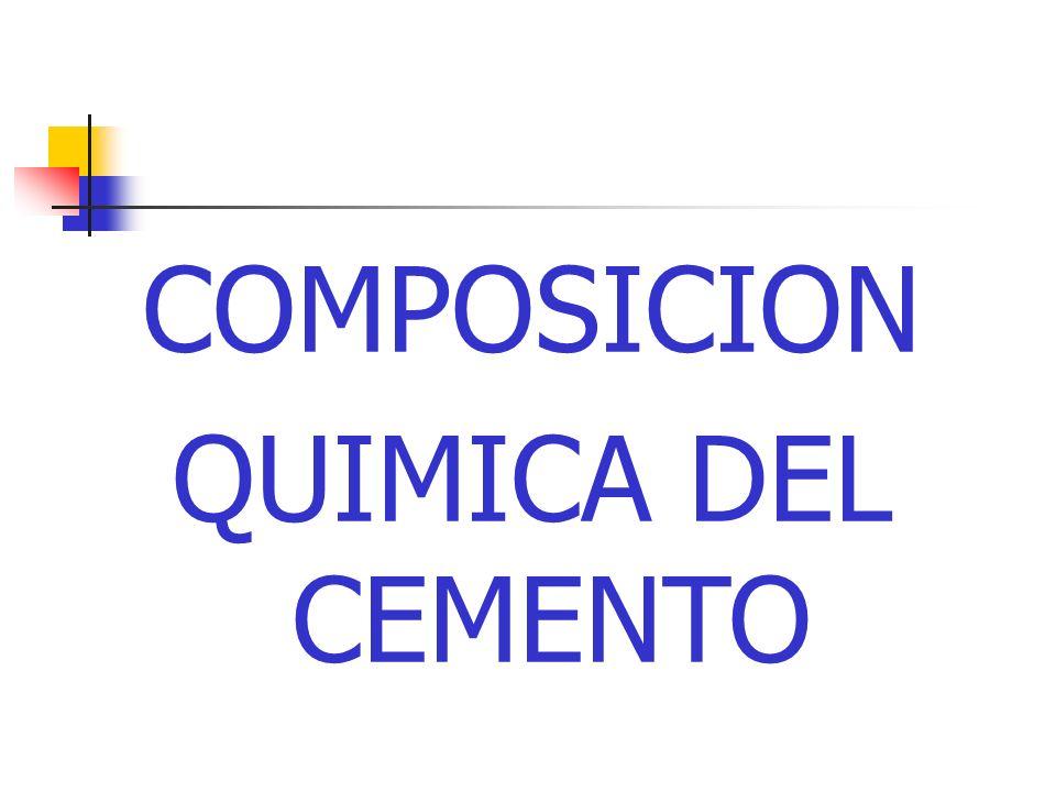 COMPOSICION QUIMICA DEL CEMENTO