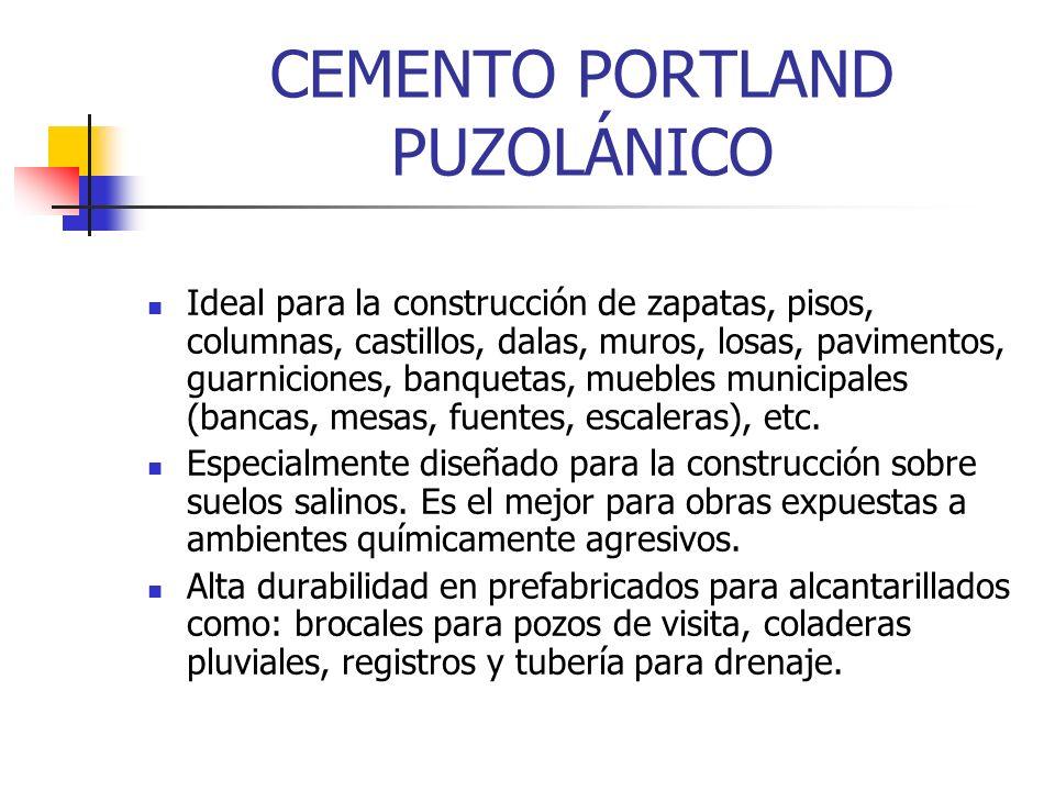 CEMENTO PORTLAND PUZOLÁNICO Ideal para la construcción de zapatas, pisos, columnas, castillos, dalas, muros, losas, pavimentos, guarniciones, banqueta