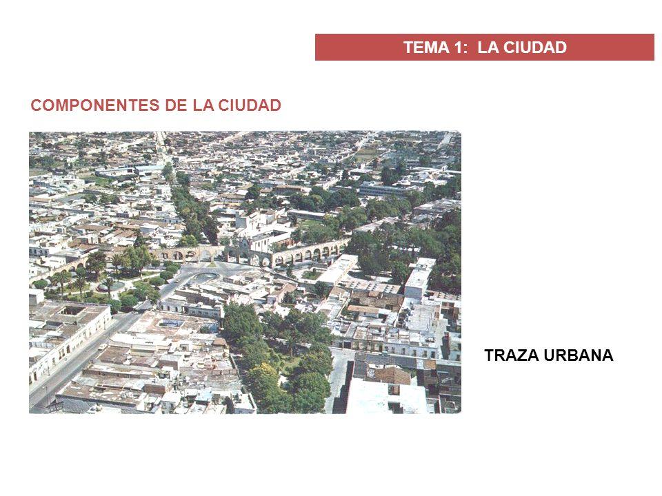 COMPONENTES DE LA CIUDAD TRAZA URBANA