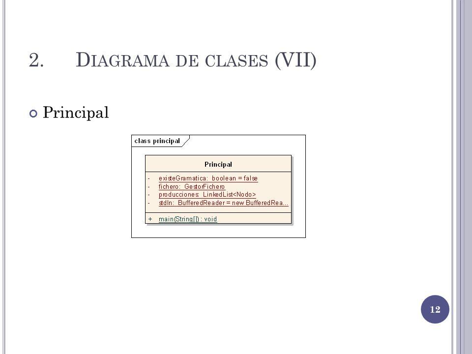 2.D IAGRAMA DE CLASES (VII) Principal 12