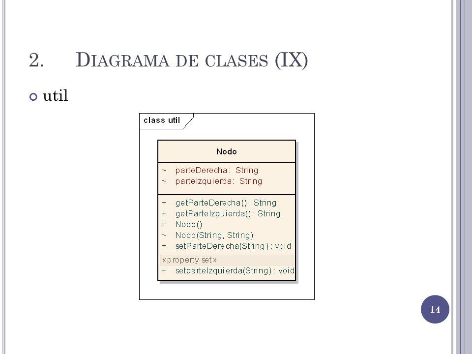 2.D IAGRAMA DE CLASES (IX) util 14