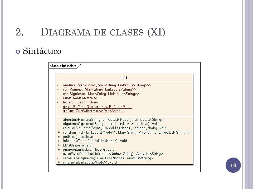 2.D IAGRAMA DE CLASES (XI) Sintáctico 16