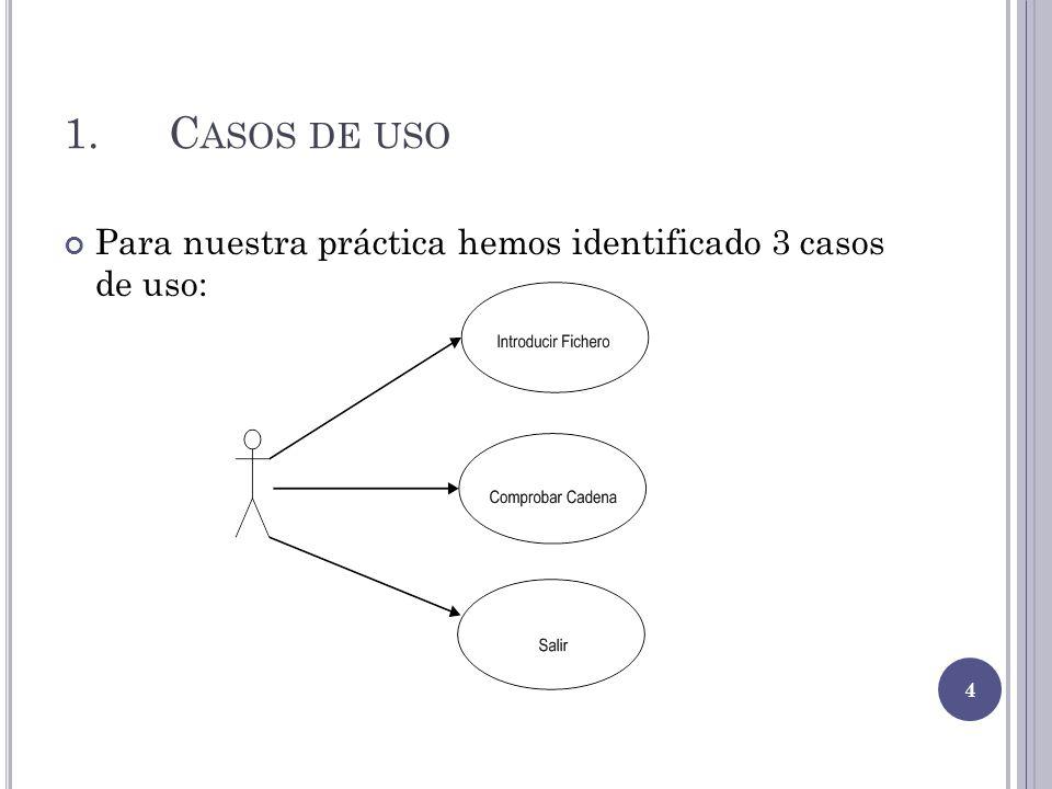 1.C ASOS DE USO Para nuestra práctica hemos identificado 3 casos de uso: 4