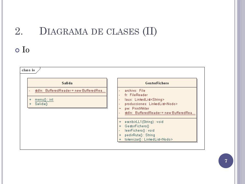 2.D IAGRAMA DE CLASES (II) Io 7