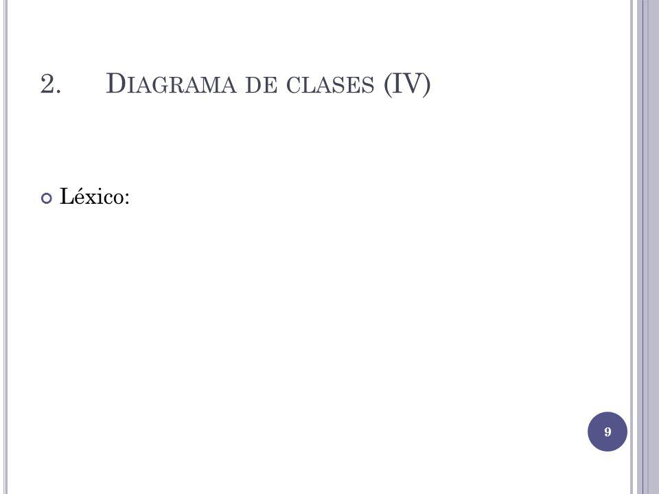 2.D IAGRAMA DE CLASES (IV) Léxico: 9