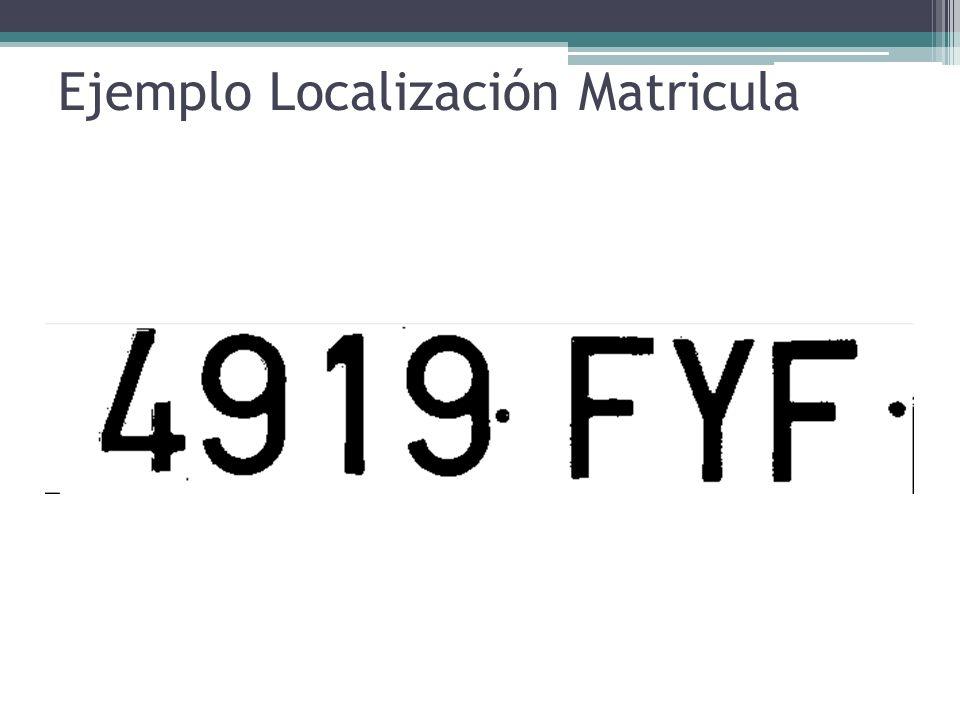 Ejemplo Localización Matricula